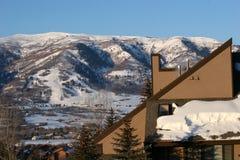 De hellingen van de ski stock afbeelding