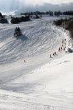 De hellingen van de ski Stock Foto's