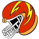 De Helm van de beeldverhaalvoetbal Royalty-vrije Stock Afbeelding