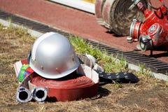 De helm van de brand stock fotografie
