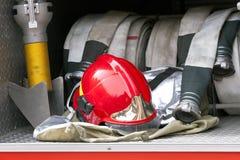 De helm van de brandbestrijder Stock Afbeeldingen