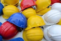 De helm van de het werkveiligheid Stock Afbeeldingen