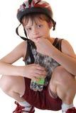 De helm van de jongen. Royalty-vrije Stock Fotografie