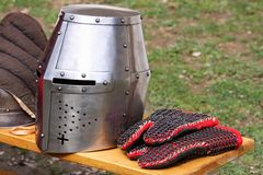 De helm van het ijzer Stock Afbeelding