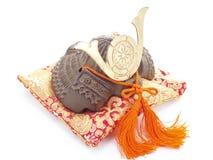 De helm van samoeraien. Stock Fotografie