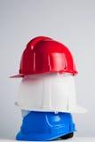 De helmen van de bouw Stock Afbeelding