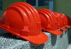 De helmen van de veiligheid Royalty-vrije Stock Foto's