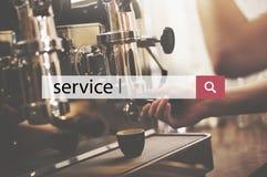 De Helpdesk die van de de dienststeun Hulpconcept helpen Stock Fotografie