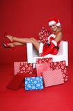 De Helper van de kerstman royalty-vrije stock foto