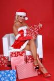De Helper van de kerstman royalty-vrije stock afbeelding