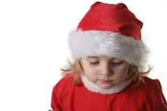 De helper van de kerstman op de sneeuw Stock Afbeeldingen