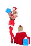 De Helper van de Kerstman van Kerstmis stock afbeeldingen