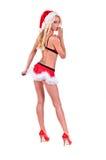 De Helper van de Kerstman van Kerstmis stock foto's