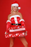 De Helper van Kerstmis van de kerstman royalty-vrije stock foto's