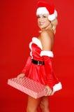 De Helper van Kerstmis van de kerstman stock foto