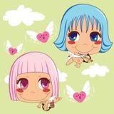 De Helpers van de Cupido Stock Foto's