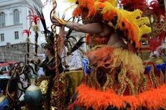 """€ de Helsinki, Finlandia """"6 de junio de 2015: Coche tradicional de la samba del verano Imágenes de archivo libres de regalías"""