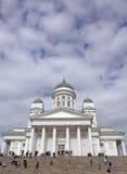 De Helsinski-Kathedraal in de Oude Stad van Helsinski, Finland Stock Foto's