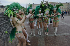 """€ de Helsínquia, Finlandia """"6 de junho de 2015: Carro tradicional do samba do verão Imagem de Stock"""