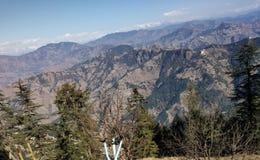 De hemel, berg in kufri Himachal Pradesh royalty-vrije stock afbeeldingen