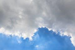De hemel betrekt blauwe hemel met wolk Royalty-vrije Stock Fotografie