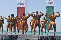 De HEMEL DUIKT Kampioenschap 2 van DOUBAI Bodybuilding Stock Foto