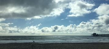 De Hemel langs het Strand stock afbeelding