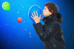 De hemel met ballons Stock Foto's