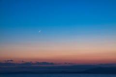 De hemel na zonsondergang Royalty-vrije Stock Afbeeldingen
