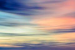 De hemel natuurlijke achtergrond van de Defocusedzonsondergang Royalty-vrije Stock Foto's