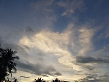 De hemel op avond royalty-vrije stock afbeelding