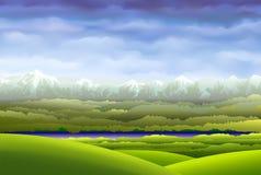 De hemel over de bergen Stock Foto's