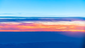 In de Hemel over de Wolken Stock Foto's