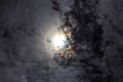 De hemel tijdens een zonneverduistering Stock Foto