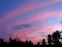 De hemel van de avond Royalty-vrije Stock Foto's