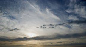 De hemel van de avond stock foto's