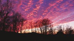 De hemel van de avond Stock Afbeeldingen