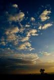 De hemel van de avond vóór zonsondergang Stock Foto