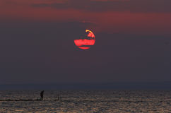 De hemel van de de vakantiezonsondergang van de zonzomer Royalty-vrije Stock Fotografie