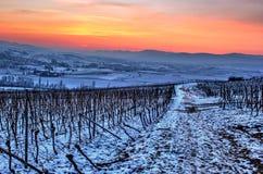 De hemel van de de winteravond Stock Afbeeldingen