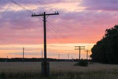 De hemel van de de zomeravond - warme achtergrond Stock Foto