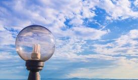 De hemel van de Ecolamp Stock Afbeeldingen