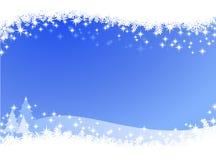 De hemel van de Kerstmiswinter steekt achtergrond aan Stock Afbeelding