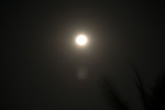 De hemel van de maannacht Stock Foto