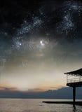 De hemel van de nacht royalty-vrije stock foto's