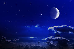 De hemel van de nacht Stock Afbeelding