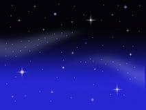 De hemel van de nachtmelkweg met planeten en sterren royalty-vrije illustratie