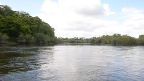 De hemel van de rivierboot stock footage