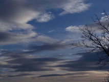 De hemel van de winter Stock Foto