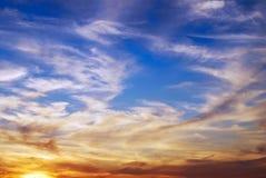 De hemel van de zonsondergang Royalty-vrije Stock Foto